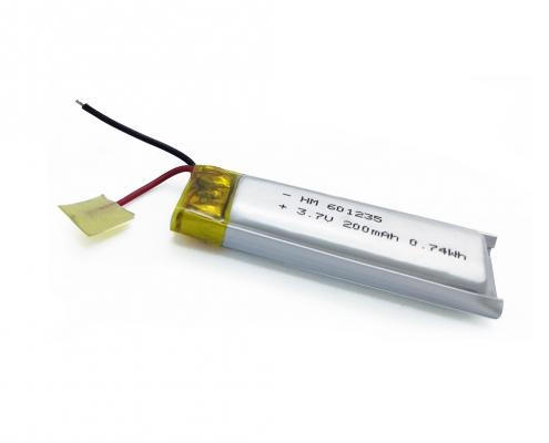 3.7V 200mAh Li polymer battery
