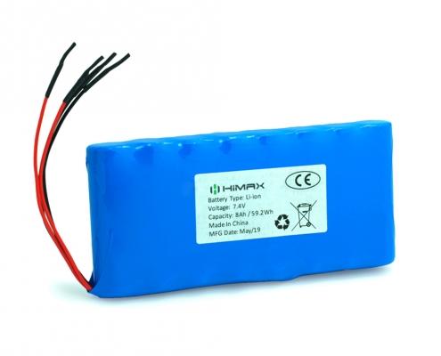 7.4v 8ah li-ion battery
