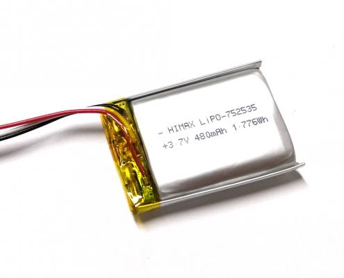 Li Polymer 3.7V 480mAh Battery